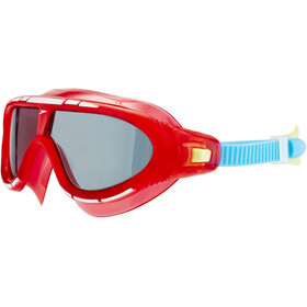 speedo Biofuse Rift Goggles Kinderen, lava red/japan blue/smoke
